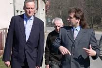 Ministr Cyril Svoboda v Poříčí.