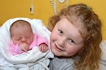 ROZÁRIE RENATA NOVOTNÁ. Narodila se 4. dubna mamince Petře ze Svitav. Měřila 47 centimetrů a vážila 2,8 kilogramu. Má sestru Valentýnku.