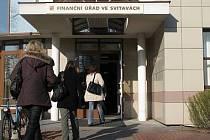 Finanční úřad ve Svitavách. Jen tady už od září lidé z okresu mohou zaplatit daně a poplatky.
