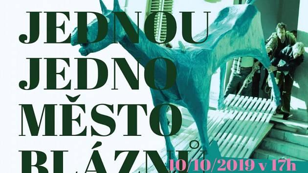 Plakát k besedě a promítání v Poličce.