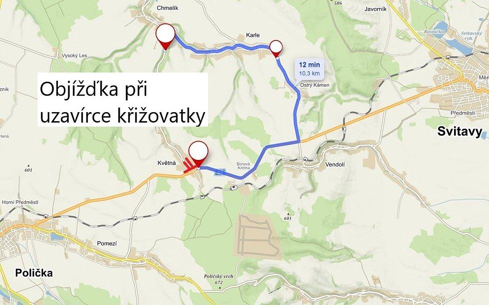 Začíná oprava povrchu vozovky na silnici I/34 mezi Svitavami a Poličkou.