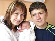 NATÁLIE KUČEROVÁ. Holčička spatřila světlo světa 19. května ve 22.16 hodin ve svitavské porodnici. Vážila 3,2 kilogramu a měřila půl metru. S rodiči Martinou a Janem bude  doma v Chrastové Lhotě.