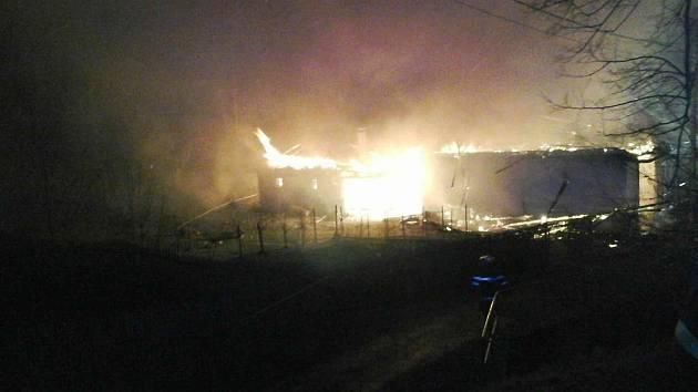 Požár v Rudné.