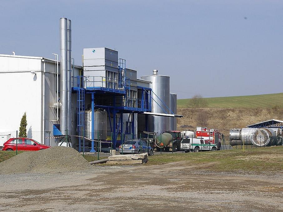 Únik plynu v mlékárně v MěstečkuTrnávka nepřežili dva lidé.