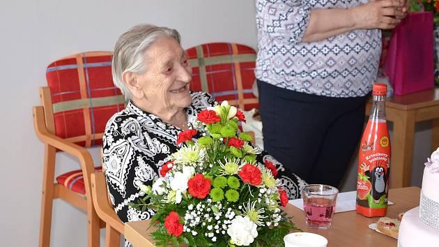 Emma Balážová oslavila 100. narozeniny.