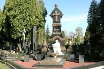 Restaurovaná hrobka Rodiny Langerovy.