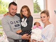 MICHAELA HANČOVÁ. Narodila se 26. července Pavle a Martinovi z Cerekvice nad Loučnou. Měřila 51. centimetrů a vážila 3,8 kilogramu. Má sestru Natálku.