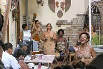 Kubánská kapela v Havaně.