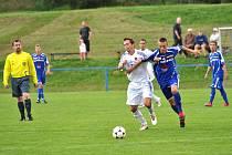 Sestavu cerekvického nováčka doplnil pro I. A třídu mimo jiné exligový fotbalista Ivo Svoboda (v bílém dresu).