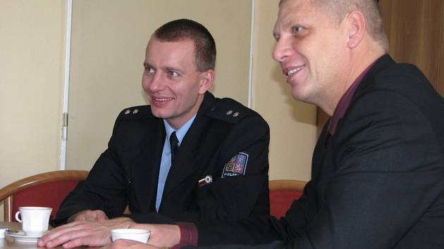 Rostislav Bednář (vlevo) a Ota Hřebíček.