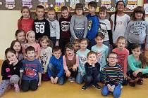 Prvňáci ze Základní školy Březová nad Svitavou.