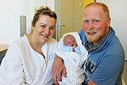 VOJTĚCH COUFAL se narodil 20. května v 17.39 hodin. Vážil 3,6 kilogramu a měřil půl metru. S rodiči Michaelou a Davidem bude bydlet v Poličce.
