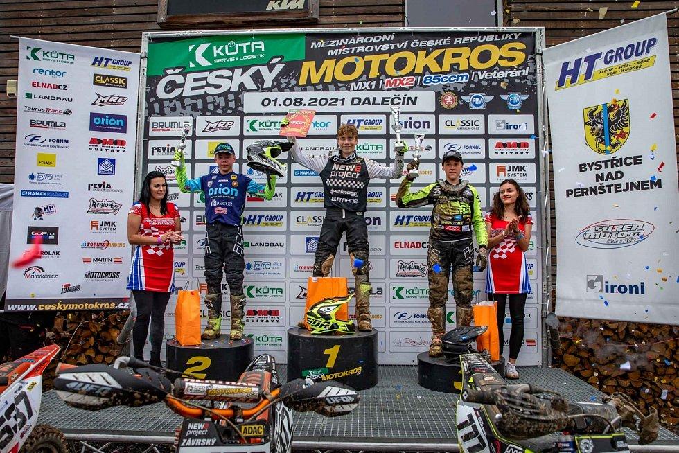 Motokrosaři Orion Racing Teamu Litomyšl v Dalečíně.