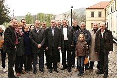 Politici ČSSD během návštěvy bývalého premiéra Bohuslava Sobotky v Pardubickém kraji.