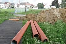 Přestavba stadionu ve Svitavách.