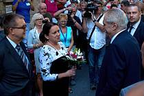 Prezident Miloš Zeman na oslavách Odborného léčebného ústavu v Jevíčku