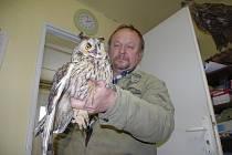 ZELENÉ VENDOLÍ.  Do záchranné stanice volně žijících zvířat ve Vendolí na Svitavsku se v těchto chladných dnech dostávají poměrně často sovy a jiní dravci