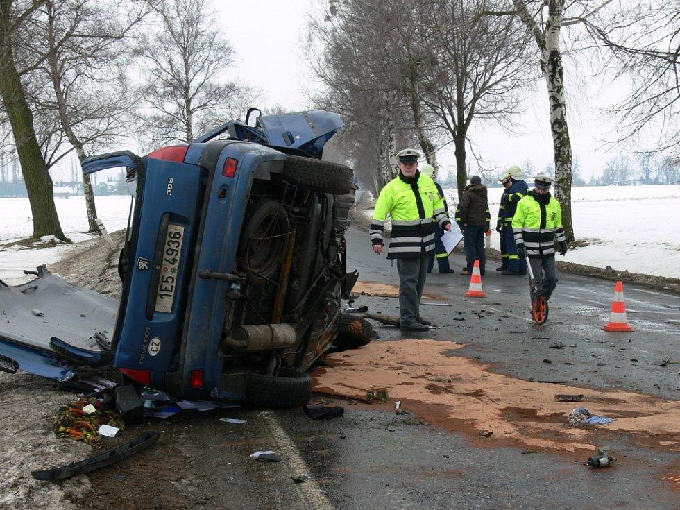Havárie u obce Lezník.