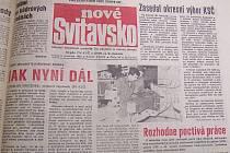 Dobový tisk z roku 1989.