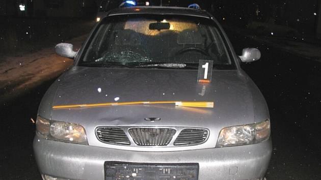 Srážka osobního automobilu a chodce ve Svitavách.