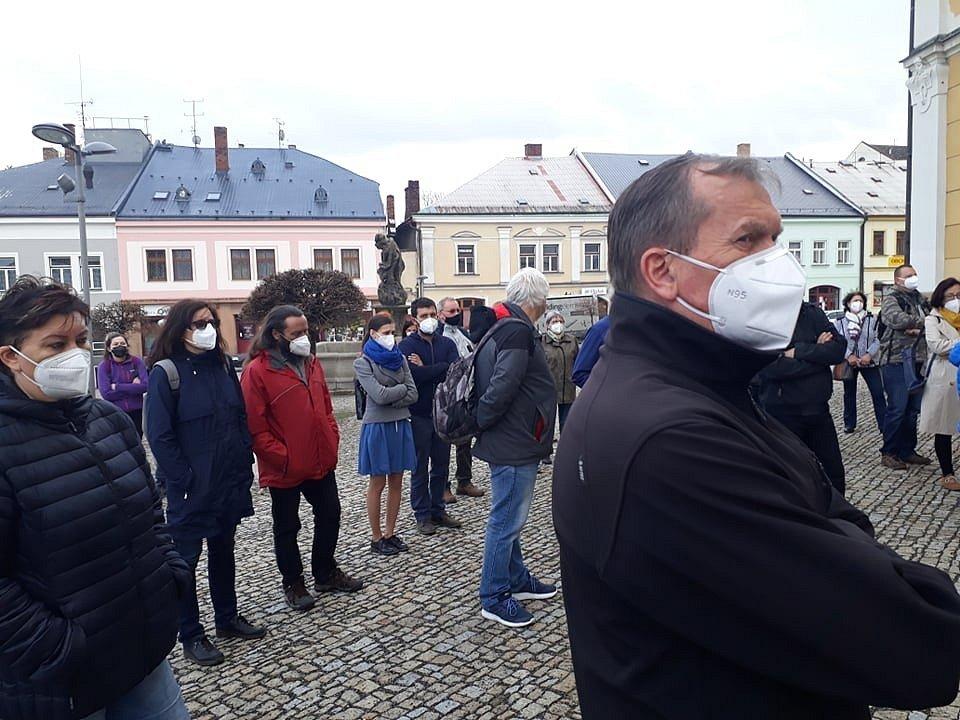 Protizemanovská demonstrace v Poličce