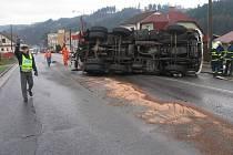 Nehoda kamionu.Ilustrační foto.