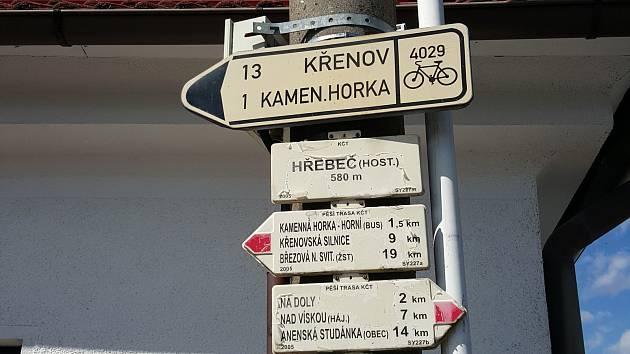 Silničáři ničí turistům cykloznačení.