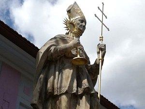 Socha sv. Norberta v Jevíčku