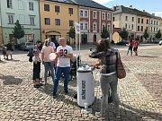 Piráti zahájili předvolební kampaň na náměstí v Moravské Třebové