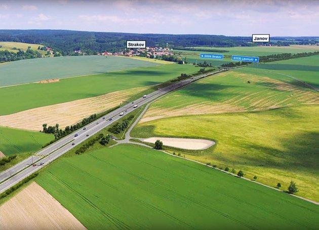 AČKOLIV DÁLNICE D35 má vúseku kolem Kornic a zvláště pak vokolí Strakova vést vhlubokém, až 11metrovém zářezu, místní požadují posun trasy dál od jejich domů.