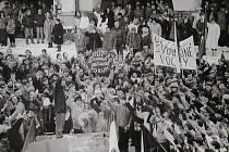 Listopadové dny roku 1989 v Litomyšli.