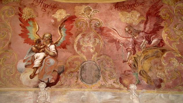 NÁSTĚNNÁ MALBA v kapli svatého Isidora v Křenově.