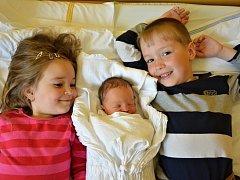 TOMÁŠ MLEJNEK. Narodil se 15. května Janě a Petrovi z Borové. Má sourozence Péťu a Nikolku.