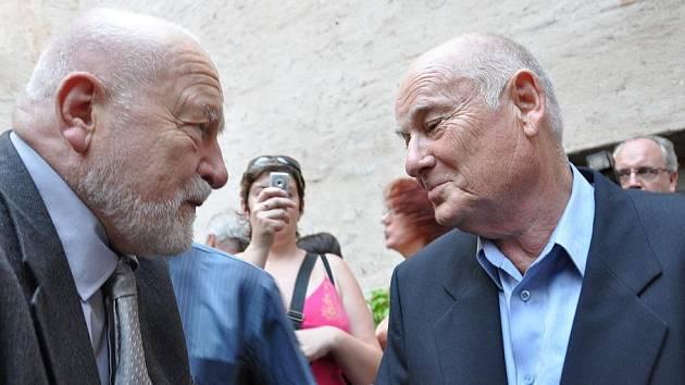 Theodor Pištěk (vpravo) a Olbram Zoubek