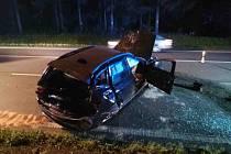 Sobotní večerní nehoda u Gruny na I/35