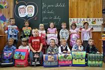 Tak to jsou letošní prvňáčci ze Základní školy v Jaroměřicích u Jevíčka.  Společně  se  budou učit číst, psát a počítat.
