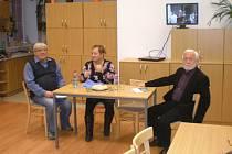 V pátek 30. listopadu se uskutečnila v Rohozné beseda s Ivanou Kroupovou,dcerou spisovatele Bohuslava Březovského.