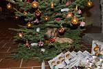 Vánoční ozdoby zaplnily sklep.