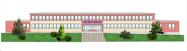 Vizualizace nové fasády svitavského gymnázia.