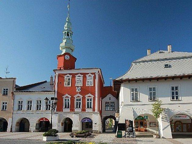 Stará radnice na náměstí ve Svitavách.