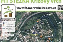 FIT STEZKA ve Třebové poslouží na protažení těla. V letošním roce vznikla místa, která jsou označená písmenem A.