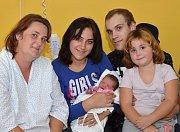 TEREZA LAŠAKOVÁ. Narodila se Andree ze Svitav. Měřila 48 centimetrů a vážila 3 kilogramy. Má sourozence Karolínu, Jakuba a Renatu.