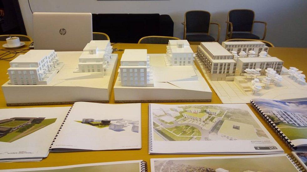 Město má na stole sedm projektů na stavbu bytovek u nemocnice.