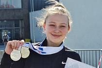 Dvojnásobná stříbrná medailistka z republikové haly Eliška Červená.