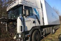 Nehoda kamionu v Moravské Třebové.