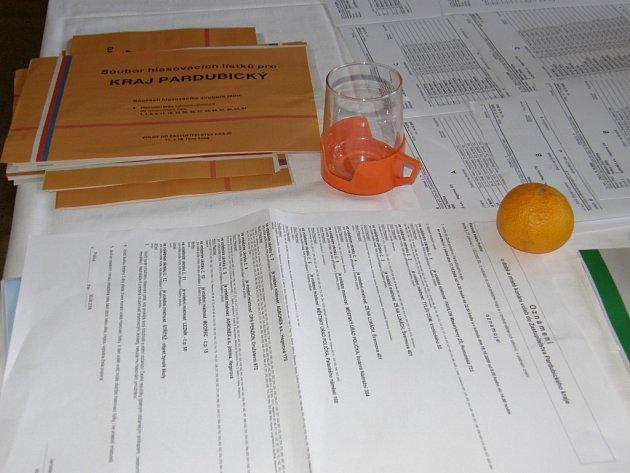 Volební lístky. Ilustrační foto