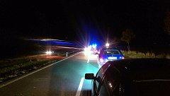 Na silnici II/360 došlo v sobotu večer k nehodě traktoru a škody octavie