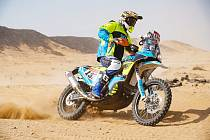 Motokrosař Martin Michek na Dakaru.