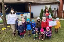 Mateřská škola Ekolandia pomohla potřebným.