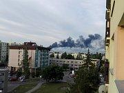 Požár v Bezděčíně byl vidět zdaleka